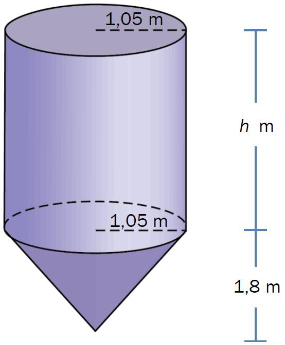 Formel for høyde i kjegle